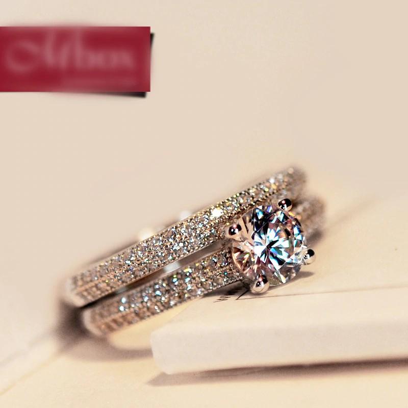 Free Ongkir Cincin Tunangan Nikah Couple Bamos Mewah Perempuan Putih Bridal Wedding Ring Set P Shopee Indonesia