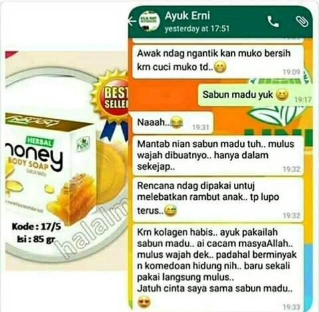 Sabun Madu Hni Hpai Sabun Wajah Sabun Herbal Sabun Jerawat Halalmart Dc Psd Stokis Depok Shopee Indonesia