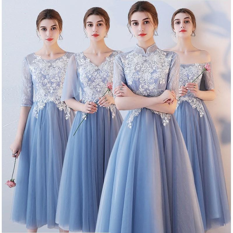 Gaun Impor Elegan Gaun Pesta Biru Gaun Malam Dress Pesta Gaun