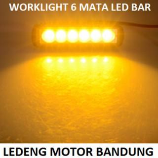 ... WorkLight Cree Led Bar Flood 6 Mata 18watt lampu tembak sorot mobil motor. suka: 2