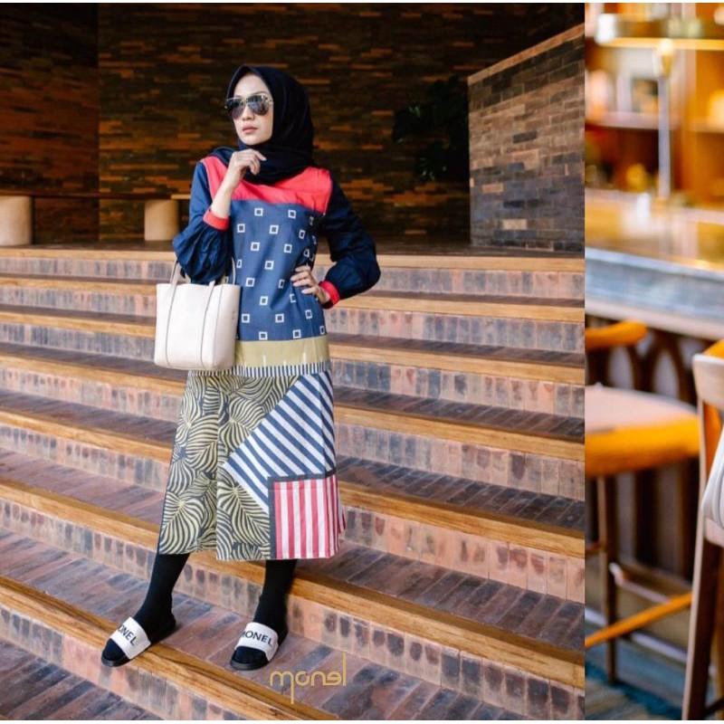 Baju Monel Basma Dress Shopee Indonesia