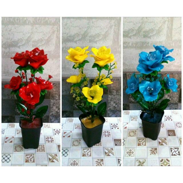 VB01 Vas Unik Bunga Mawar Artificial Cantik  8732718d38