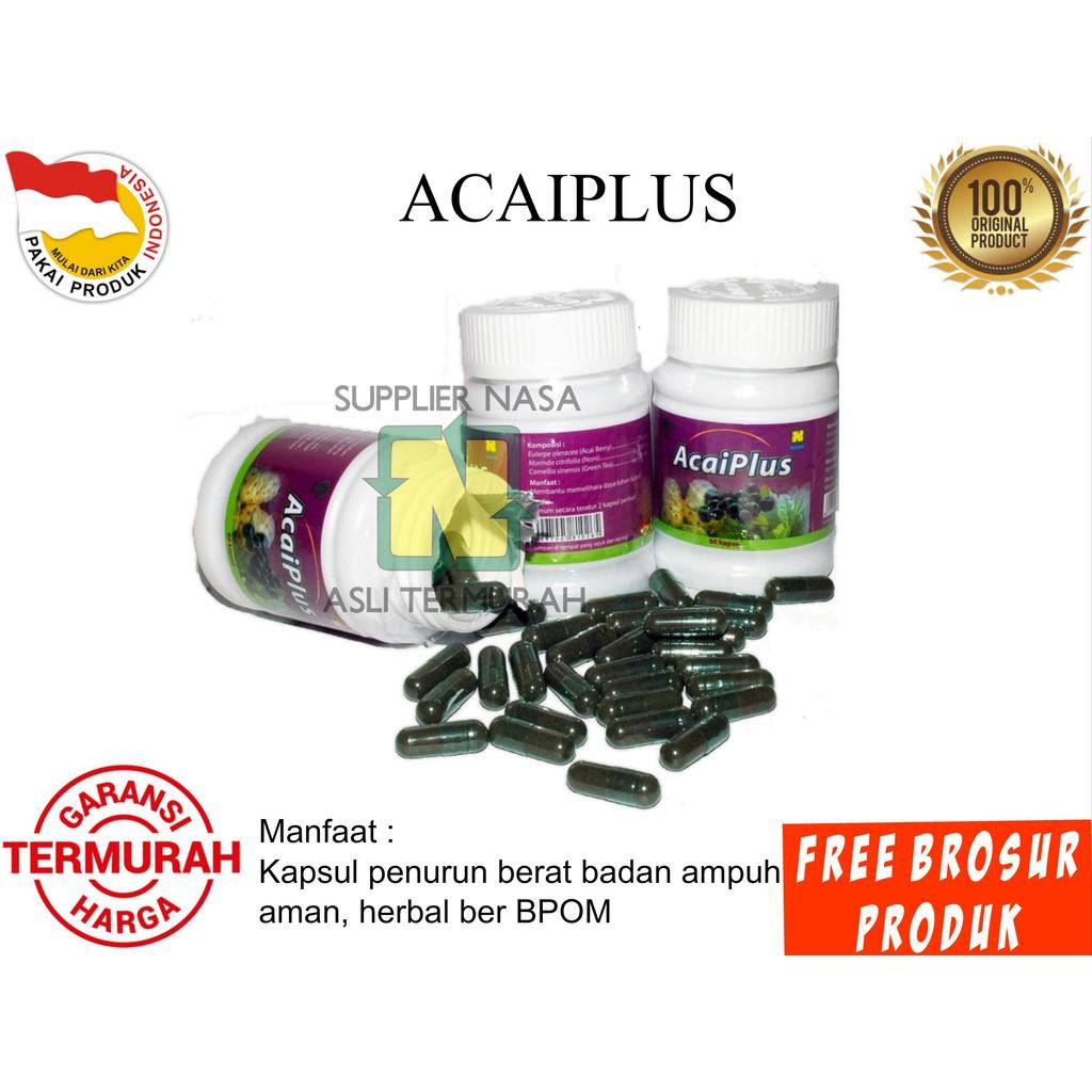 Acai Plus Nasa Original Acaiberry Pelangsing Herbal Alami Ampuh Penurun Berat Badan Ampuh Diet Shopee Indonesia