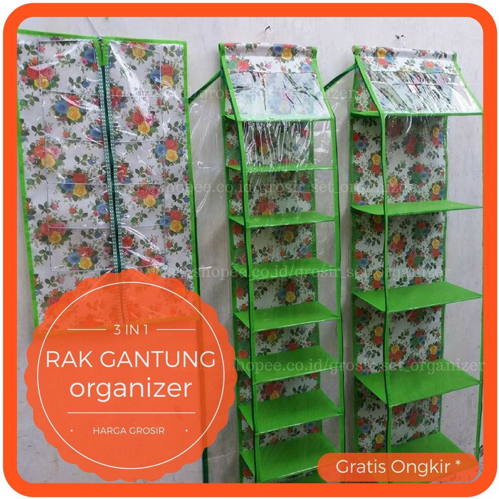 Rak Gantung Organizer No Res Tassepatujilbab Set 3 In 1 Tanpa Helm Sap Resleting Plastik Tebal 020mm Shopee Indonesia