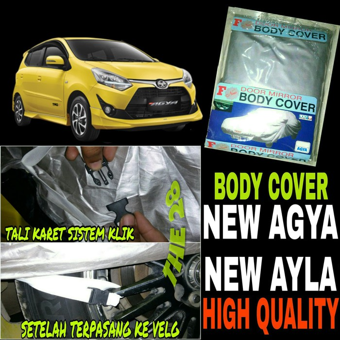 Body Cover Sarung Penutup Mobil Toyota Agya Waterproof   Shopee Indonesia