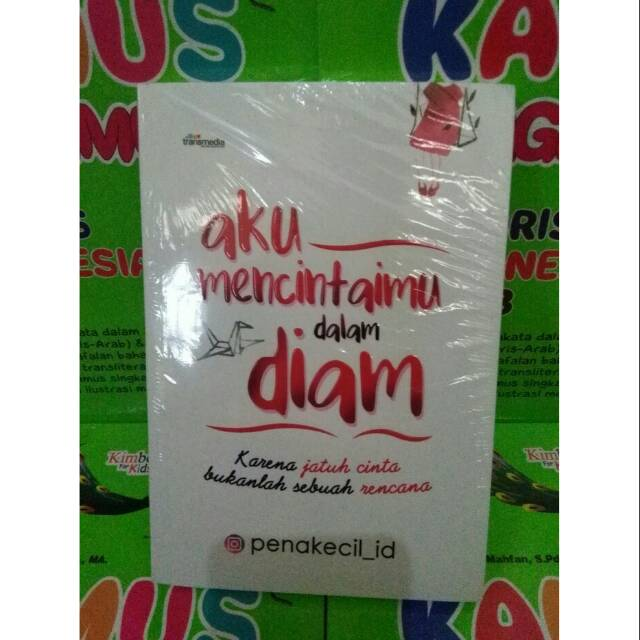 Buku Novel Aku Mencintaimu Dalam Diam New Best Seller