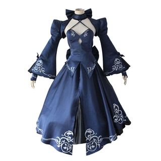 Dress Kostum Cosplay Anime Fate Stay Night Saber Alter ...