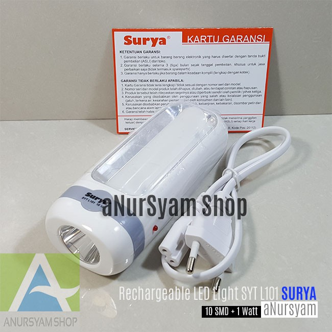 Senter LED Emergency SURYA SYT L101 / Rechargeable LED Light