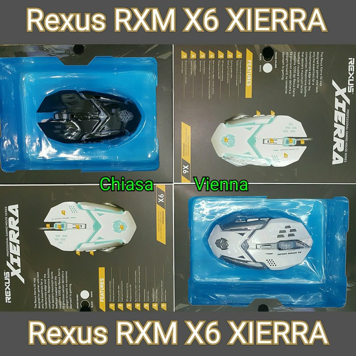MOUSE REXUS ELITE GAMING USB XIERRA RXM-X3 7D + LED - HITAM GAMING TERMURAH