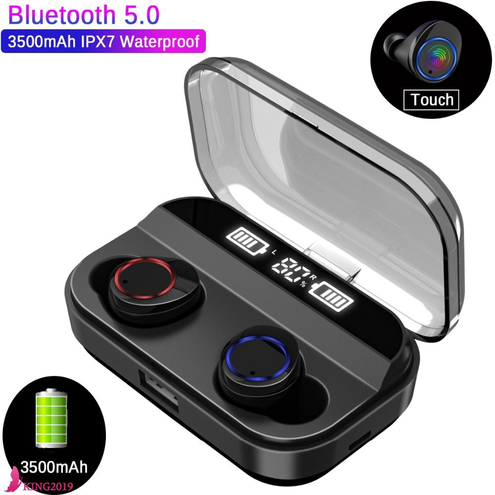 Tws Wireless Headset Power Display Touch Sports Stereo Wireless Headset Charging Box King Shopee Indonesia