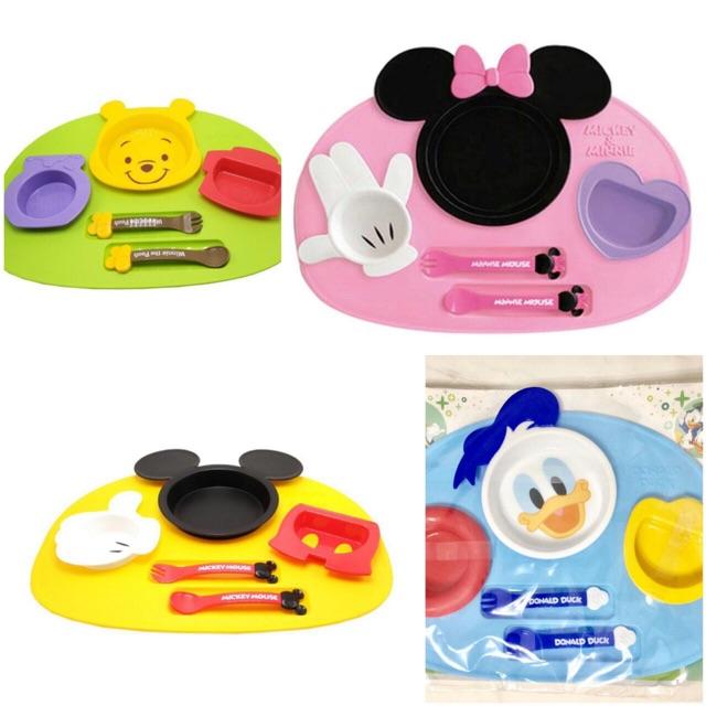 Set Peralatan Makan Bayi Dan Anak Karakter Lucu Minnie Pooh Mickey