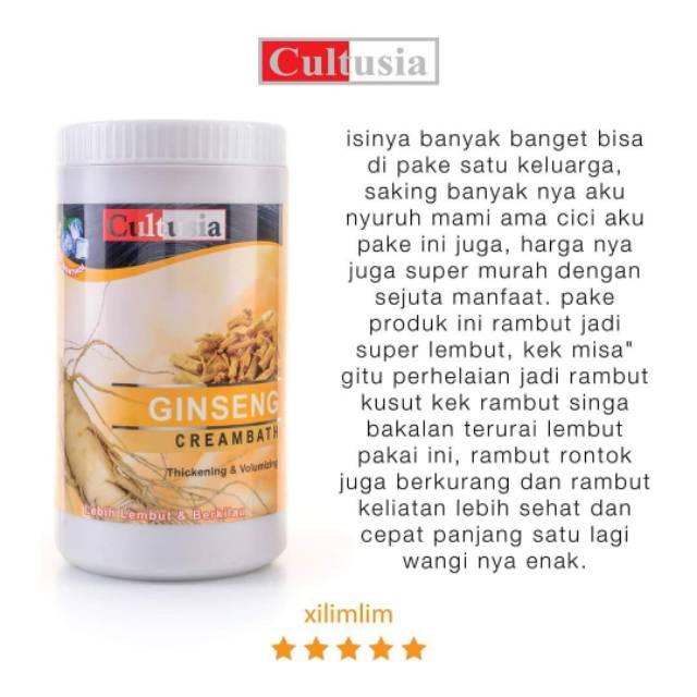 Cultusia Creambath Ginseng 1000ml Bpom Shopee Indonesia