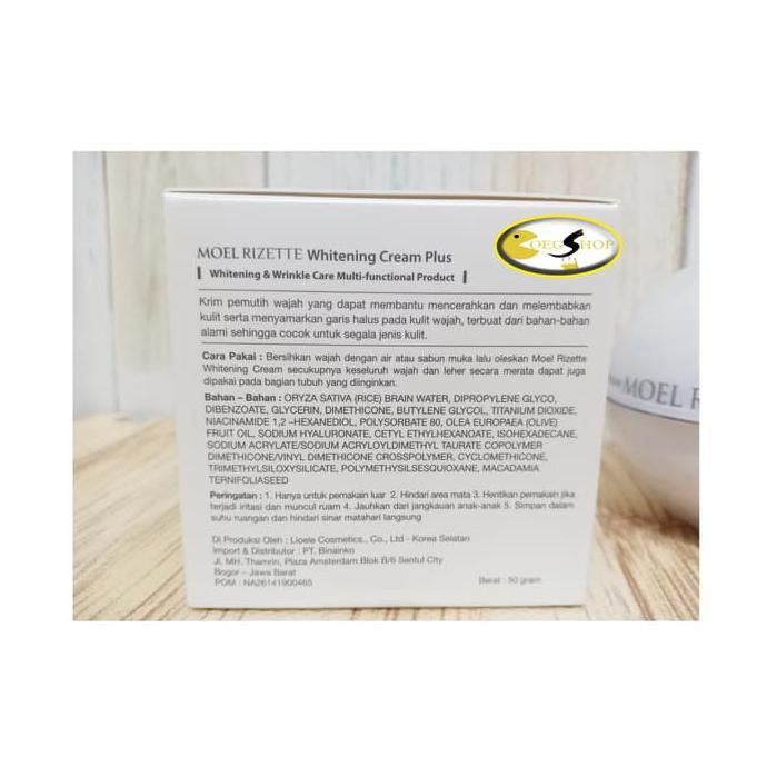 Diskon Moel Rizette Whitening Cream Plus 2Nd Generation Full Jar 50Gr New | Shopee Indonesia