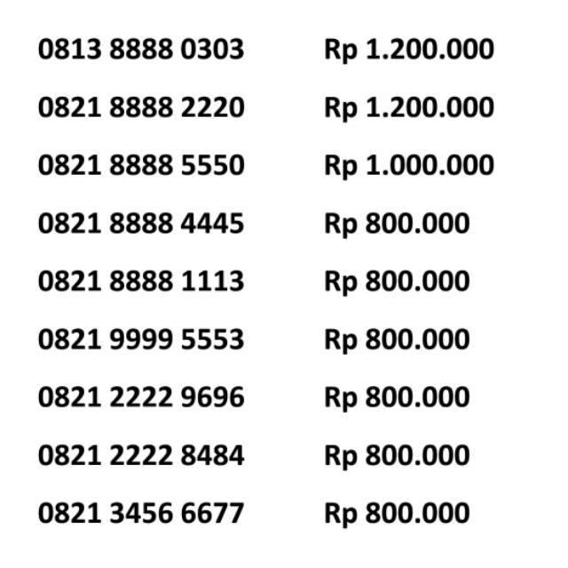 Nomor Cantik SIMPATI 4G LTE Telkomsel Kartu Perdana nocan SUPER rapi tahun lahir murah meriah |