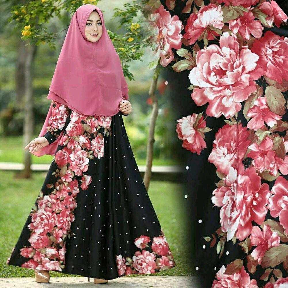 Cantika Maxi baju muslim pesta mewah gamis hijab model payung rok lebar xl  maxi cantik erica hita