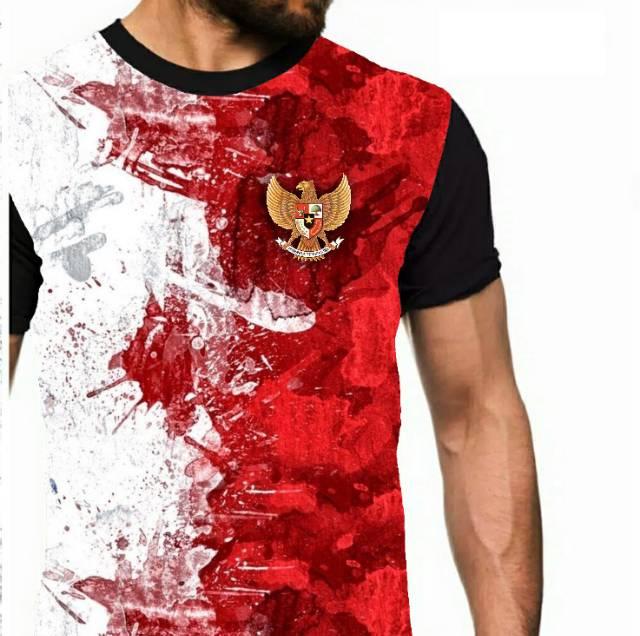 Kaos Garuda Di Dada Merah Putih Indonesia Merdeka Anak Unisex Pria