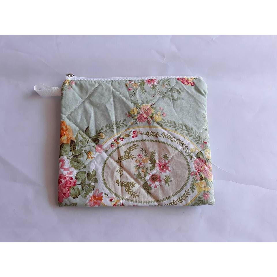 dompet serba guna tas make up koin uang motif chloe hijau