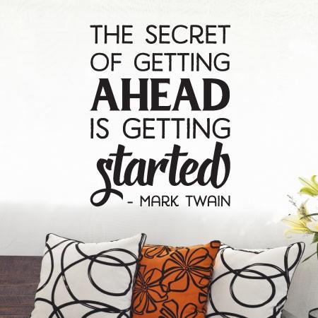 wall stiker motivasi quote mark twain sukses dekorasi dinding