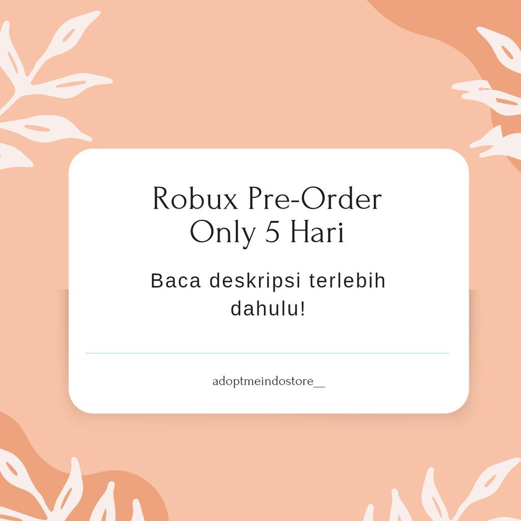 Robux Murah Pre-Order 5 Hari [100-600] + Pasti bonus