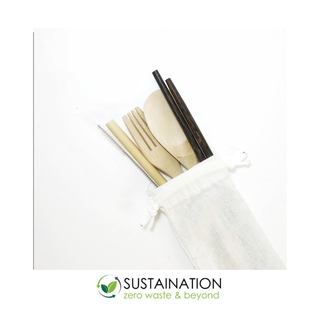 Zero waste cutlery kit / alat makan ramah lingkungan