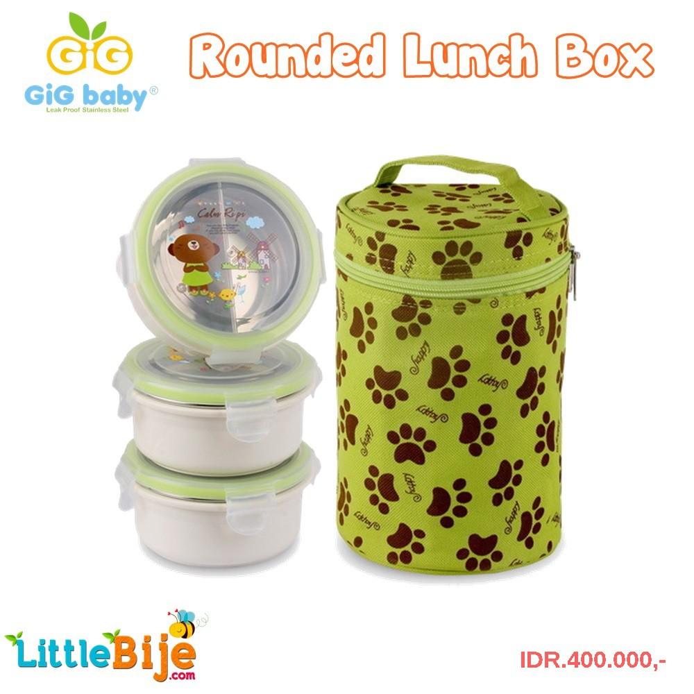 Gig Baby Rounded Hijau Lunch Box Kotak Makan Stainless Tahan Dodawa Rantang 3 Susun Panas Shopee Indonesia
