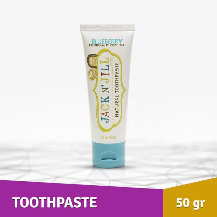 Hot Sale Odol Anak Jack N Jill Natural Kid Toothpaste Organic Blueberry 50g Bergaransi Shopee Indonesia