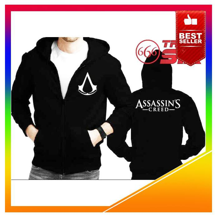HE434 JAKET HOODIE SWEATER HALFZIPPER ASSASSINS CREED GRADE ORI JERSEY | Shopee Indonesia