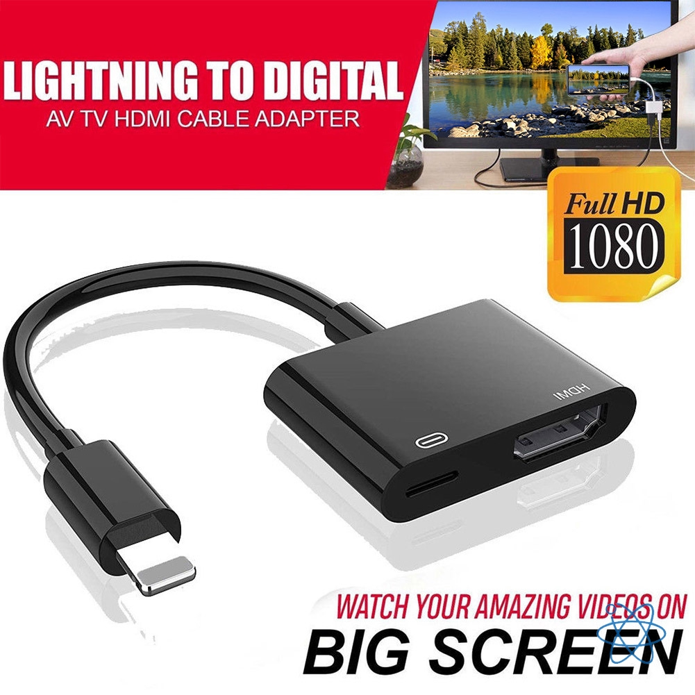 1080P To HDMI Digital AV TV Cable Adapter For iPad iPhone 8 7