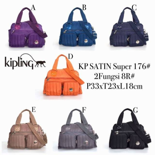 TAS KIPLING ORI JULY TRAVEL BAG MEDIUM BESAR SUGAR STRIPE ORIGINAL ASLI GYM  SENAM SPORT OLAHRAGA  1939cbb00b