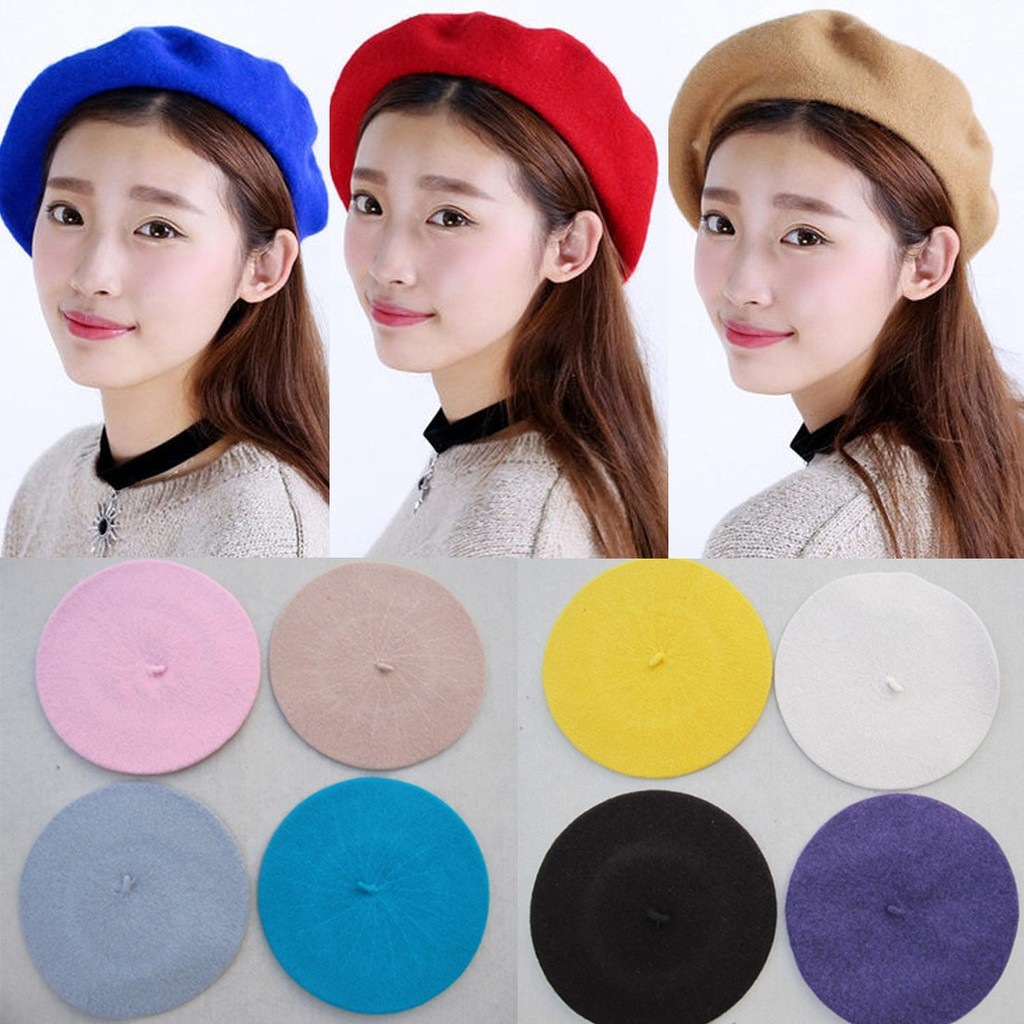 Aksesoris Fashion Wanita  Topi Beret Model French Elegan c3bf5748d6