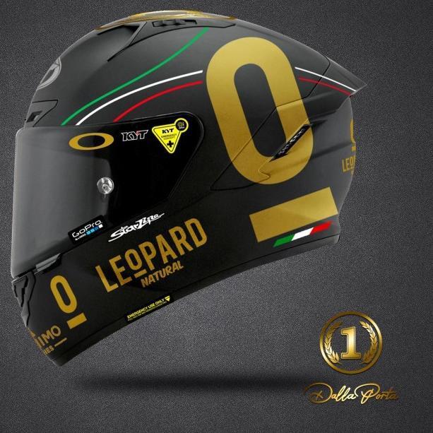 Sticker Helm KYT Full Set Gold Leopard