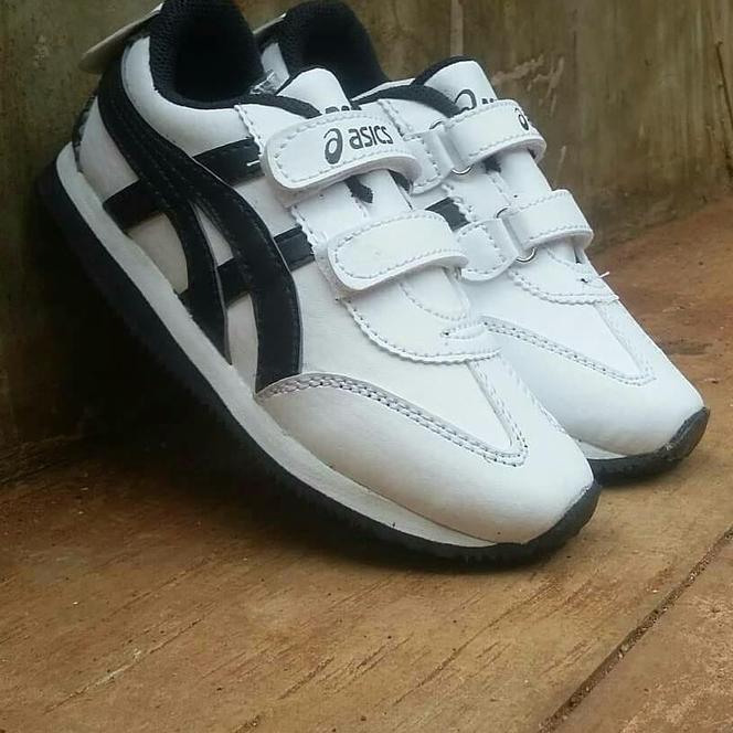 Sepatu Asics Tiger Kids  Anak Sekolah Olahraga Kado Hadiah White Black  533d8417f1
