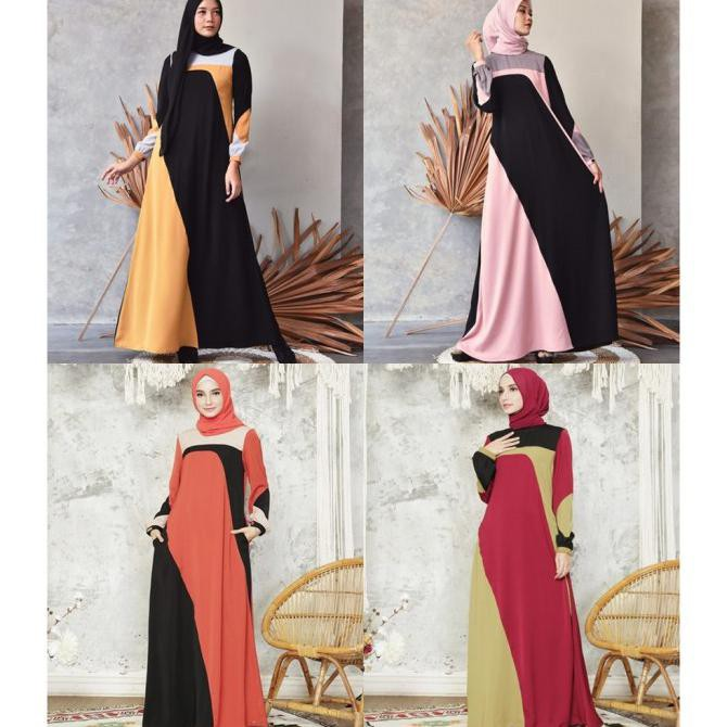 AISYAH Muslim Baju by Exclusive - Collection Wanita Gamis Zalifa Dress - Kana