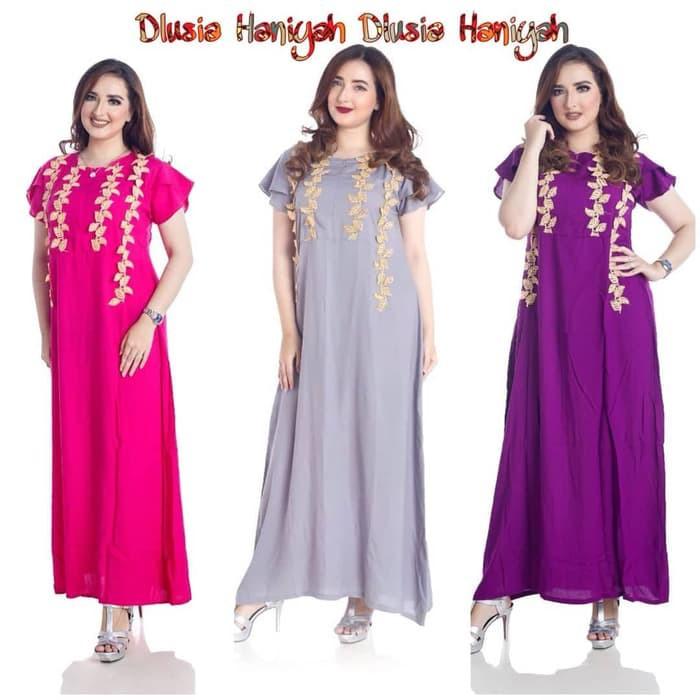 Daster arab/india/dubai/turki dlusia haniyah dress busui | Shopee Indonesia