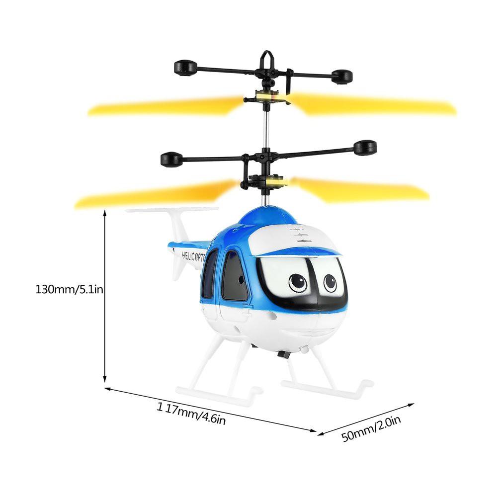 [Bayar Di Tempat]Mainan RC Drone Helikopter Induksi Terbang Dengan Desain Kartun Untuk Anak