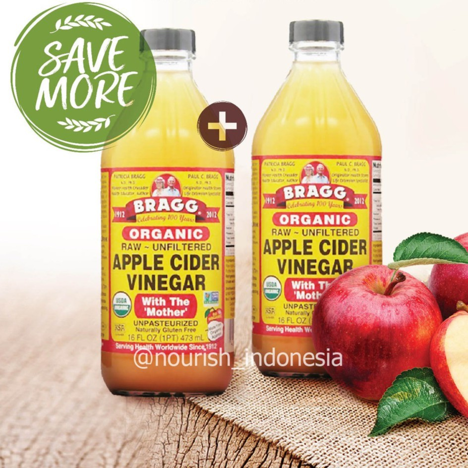 Bragg Organic Apple Cider Vinegar Acv Cuka Apel 473 Ml For 2pc New Arrival Shopee Indonesia