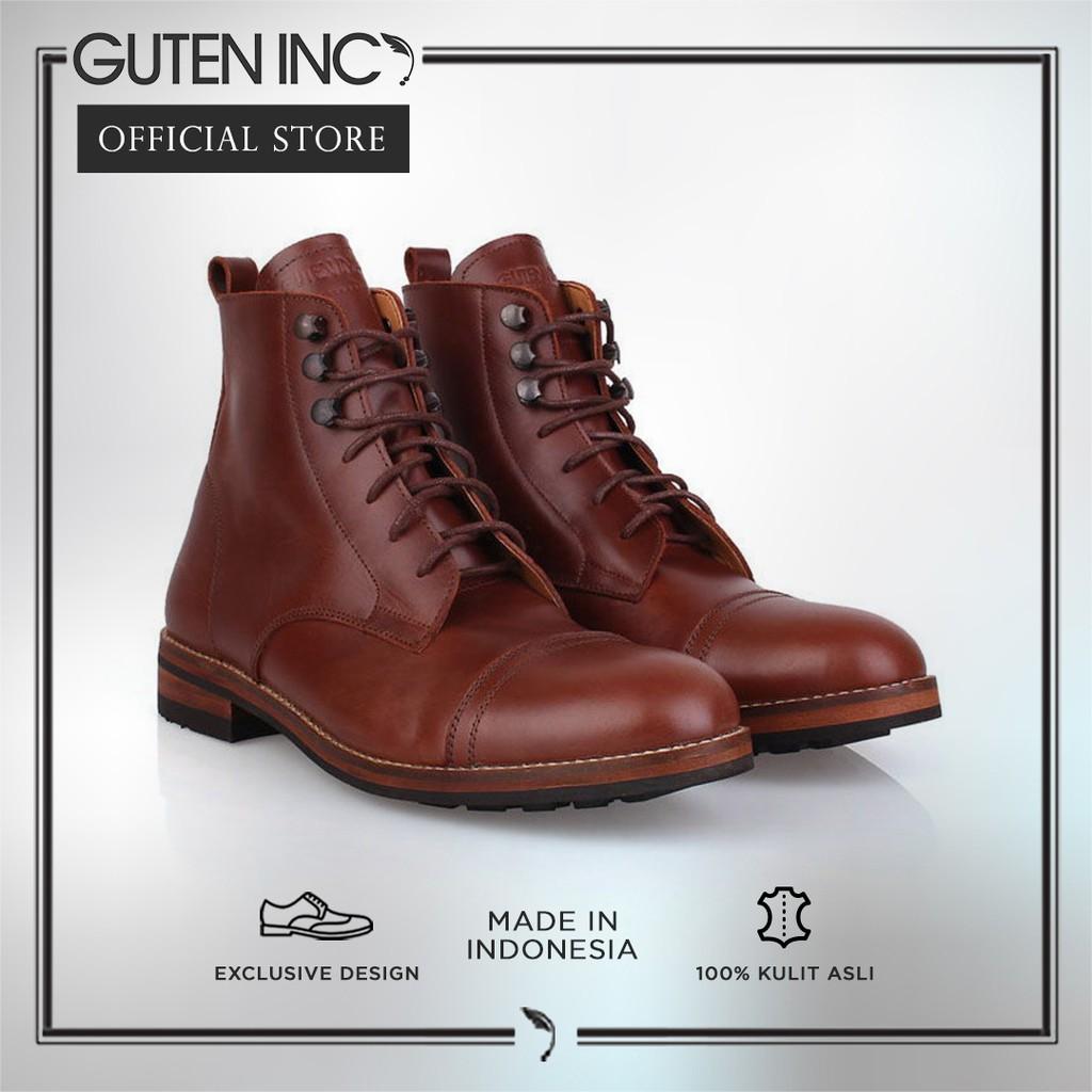 GUTEN INC - Puntondas Dark Knight   Sepatu Kulit Asli Boots Pria ... 3534d99981