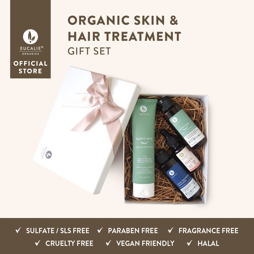 Eucalie Organic Skin Hair Treatment Gift Set