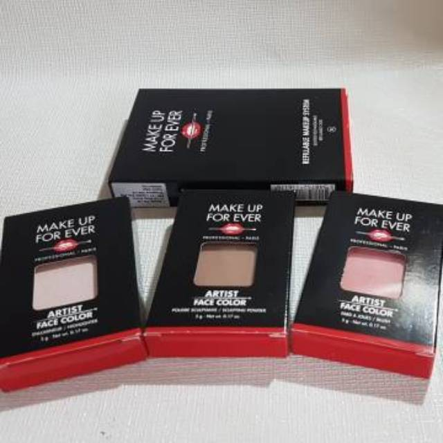 Make Up For Ever Mufe Artist Face Color Blush Sculpting Powder Highlighter