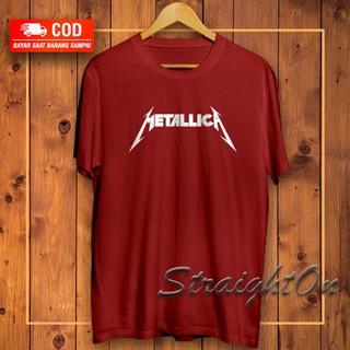 Kaos Baju Gambar Logo Kata Band Musik Metal Rock Metallica Distro Premium Oversize Pria Wanita Murah Shopee Indonesia