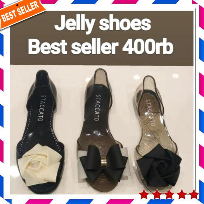 3096c4bee527 Staccato Jelly Shoes Best Seller   Jelly Shoes Staccato   Flat Shoes Woman