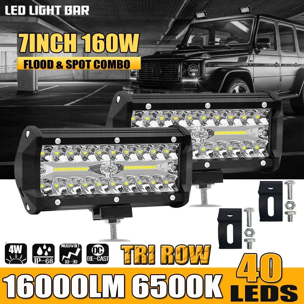 QUAD ROW 20INCH 2016W LED LIGHT BAR SPOT FLOOD COMBO OFFROAD DRIVING LAMP SUV