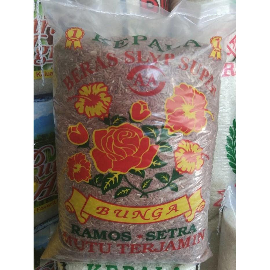 Beras Rojo Lele Delanggu 5kg10kg20kg Shopee Indonesia Cap Kembang 5kg