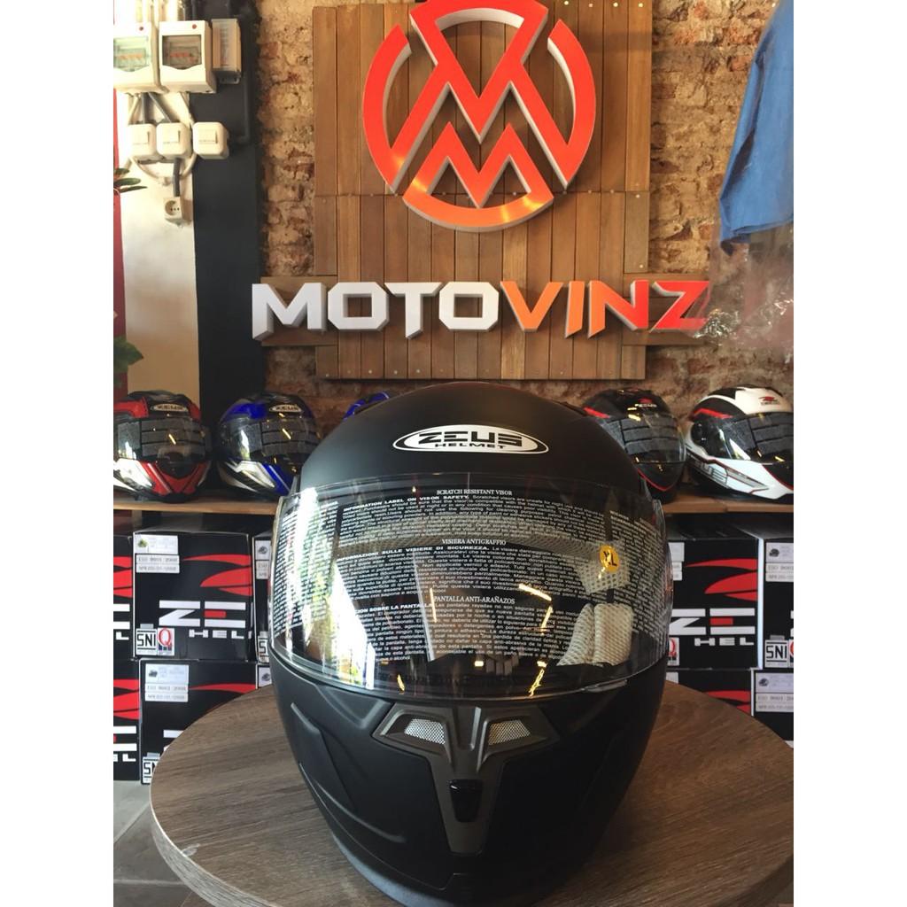 Helm Zeus 811 Blk Al12 Red Shopee Indonesia Zs811 Black