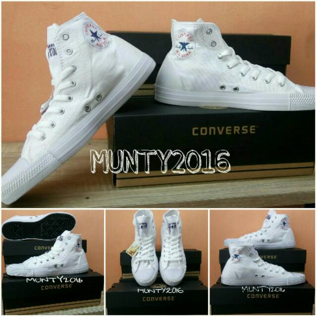 SEPATU CONVERSE ALL STAR HIGH CT2 FULL WHITE + BOX CONVERSE  8670363149