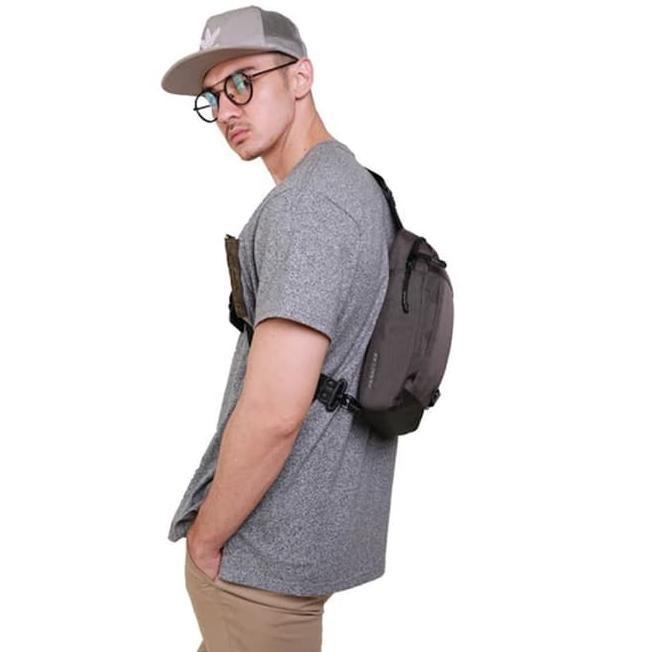 ? Bodypack Parallax Shoulder Bag - Grey ? | Shopee Indonesia