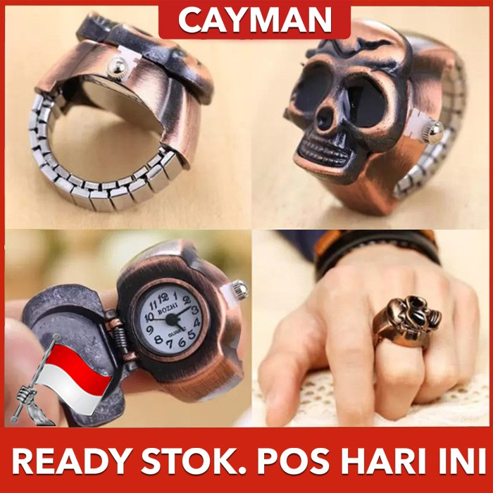 Cayman Jam Tangan Pria Cincin Ring Watch Pirate Fashion Design Men Lady Watch W95 Bronze Shopee Indonesia