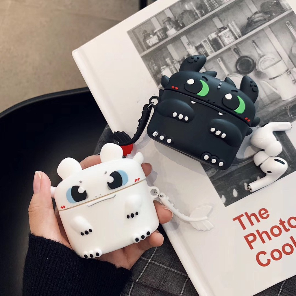 3d Monster Shape Apple Airpods Case Silikon Airpod 1 2 3 Case Black White Casing Airpods Pro Case Shopee Indonesia