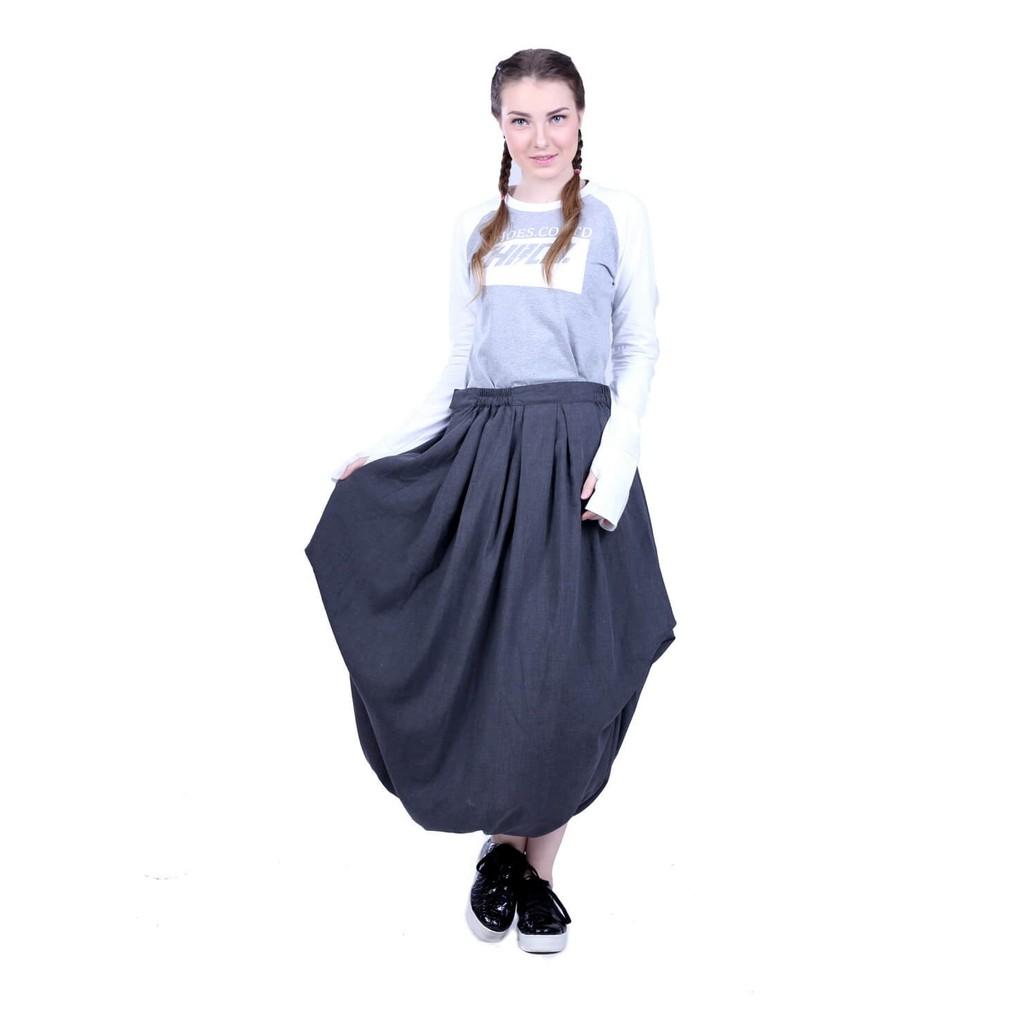 Bawahan Dress Hrcn Daftar Harga November 2018 H 1021 Black Kurta Baloon Pants Women Celana Kasual Wanita 4030