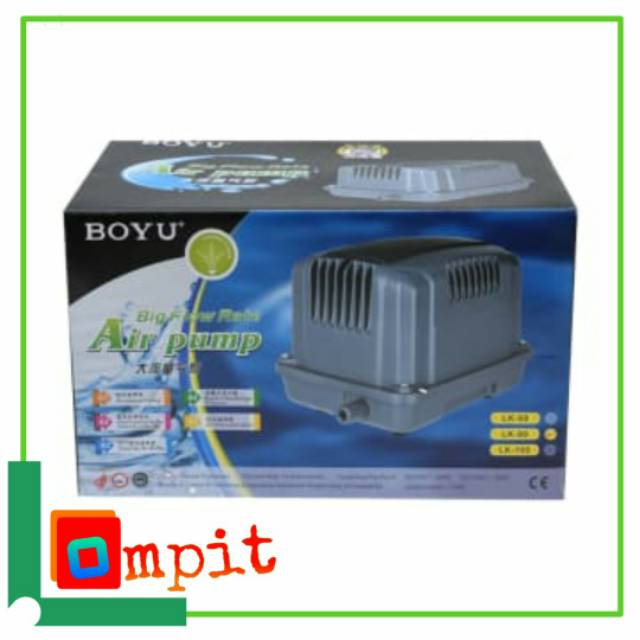 BOYU Aerator/ Pompa Udara Kolam aquarium Big Flow LK100 ...